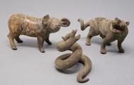 Three ancient Chinese glass <br/> animals of the Chinese zodiac