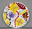 Garden Plate. Screenprinted ceramic. by Patrick Heron