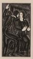 Artist and Mirror II by Eric Gill