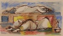 Sleeping Figures, Cairo by Robert Medley,