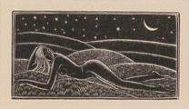 Naked Girl on Grass by Eric Gill