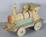 Wooden Locomotive  with original paint by