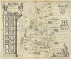Wiltonia. Joan Blaeu. (1596-1673) <br/> Original hand-coloured <br/>map of Wiltshire by
