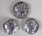 Three ancient Greek silver <br/> tetradrachms by