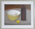 Eggs in a Bowl, Lemon and Bottle by Geoffrey Robinson